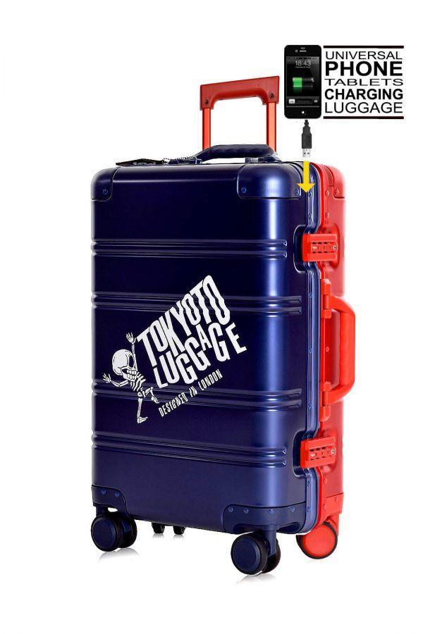 Blue Red Blue Logo Skull Aluminium Trolle 11