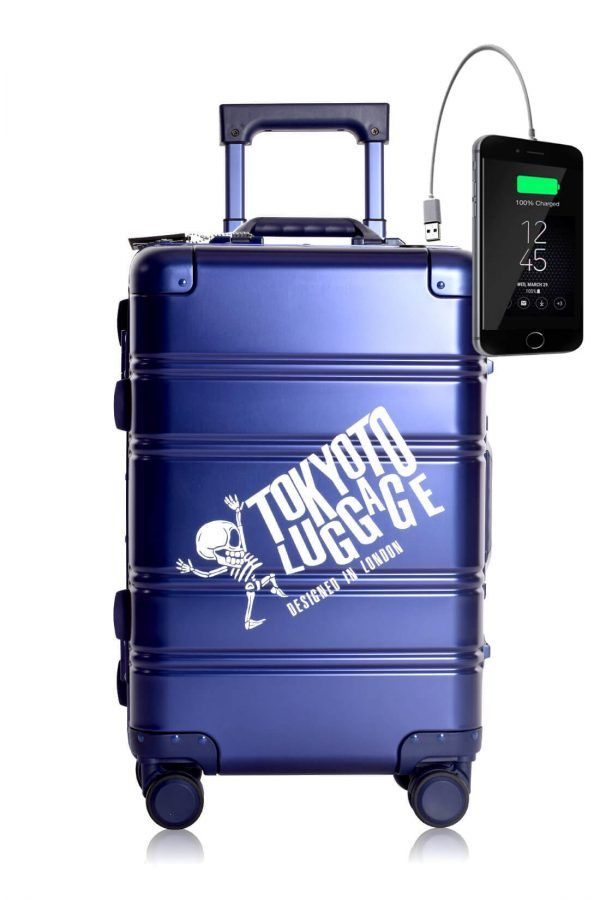 Aluminum MEtal Hand Trolley Cabin Luggage Suitcase Online TOKYOTO BLUE LOGO