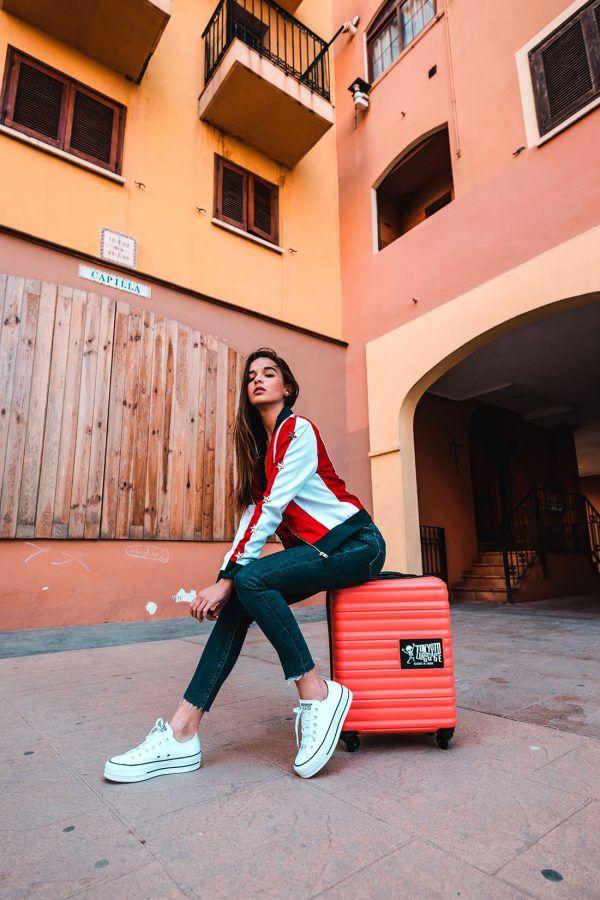 Hand Cabin Luggage Online Kids Trolleys Original Gift TOKYOTO LUGGAGE Coral