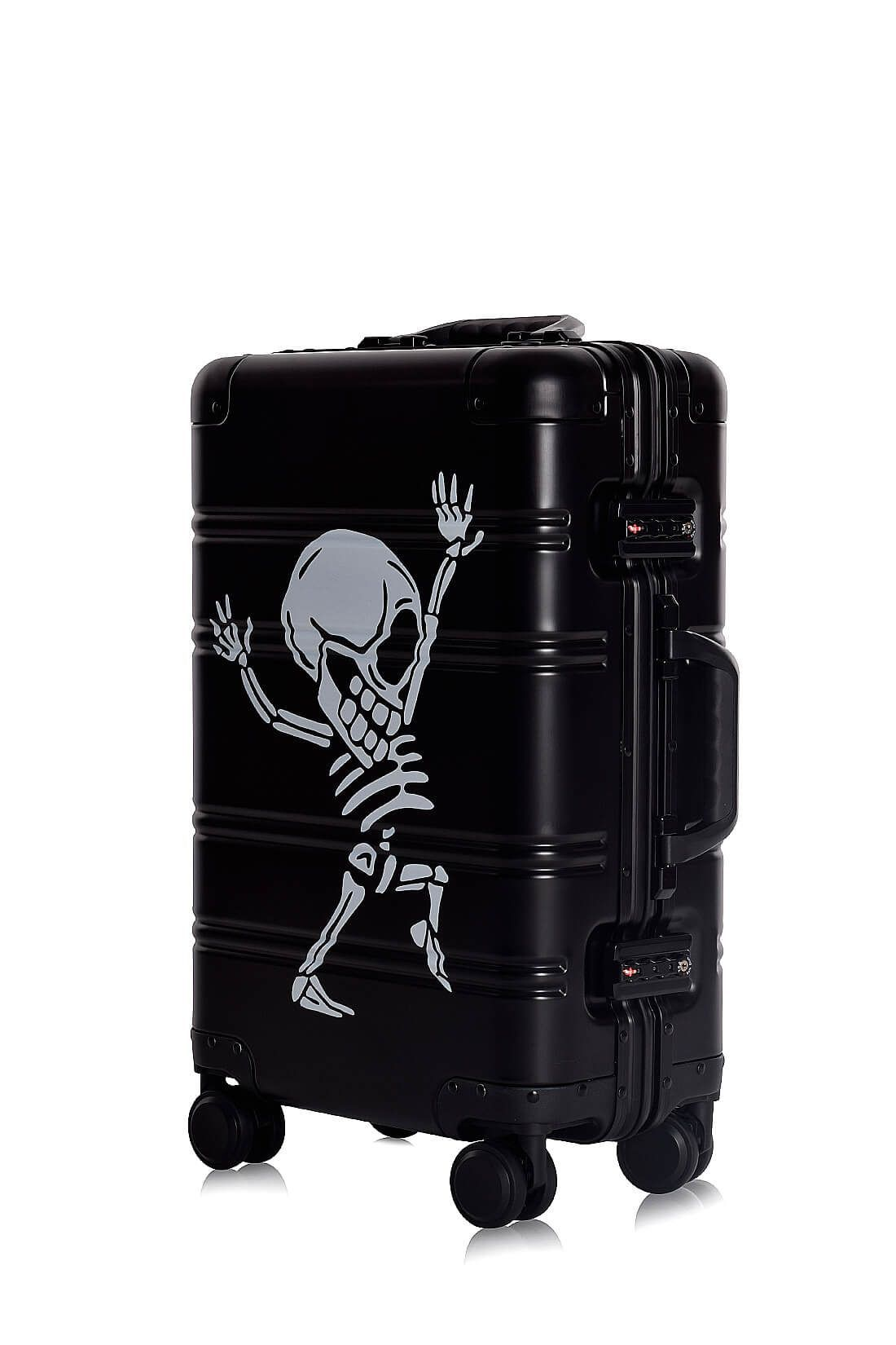 Aluminium Hand Cabin Luggage Premium Suitcase Trolley TOKYOTO LUGGAGE Model BLACK SKULL