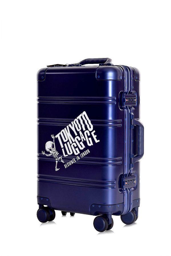Aluminium Hand Cabin Luggage Premium Suitcase Trolley TOKYOTO LUGGAGE Model BLUE LOGO
