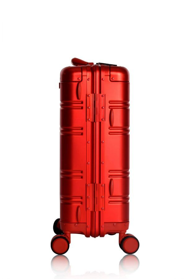 Aluminium Hand Cabin Luggage Premium Suitcase Trolley TOKYOTO LUGGAGE Model RED SKULL 9
