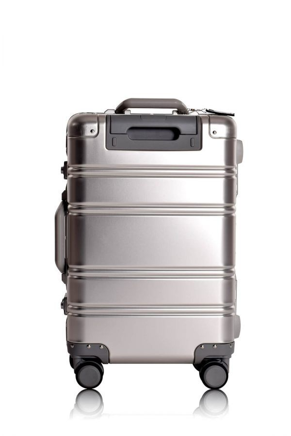 Aluminium Hand Cabin Luggage Premium Suitcase Trolley TOKYOTO LUGGAGE Model SILVER SKULL 2