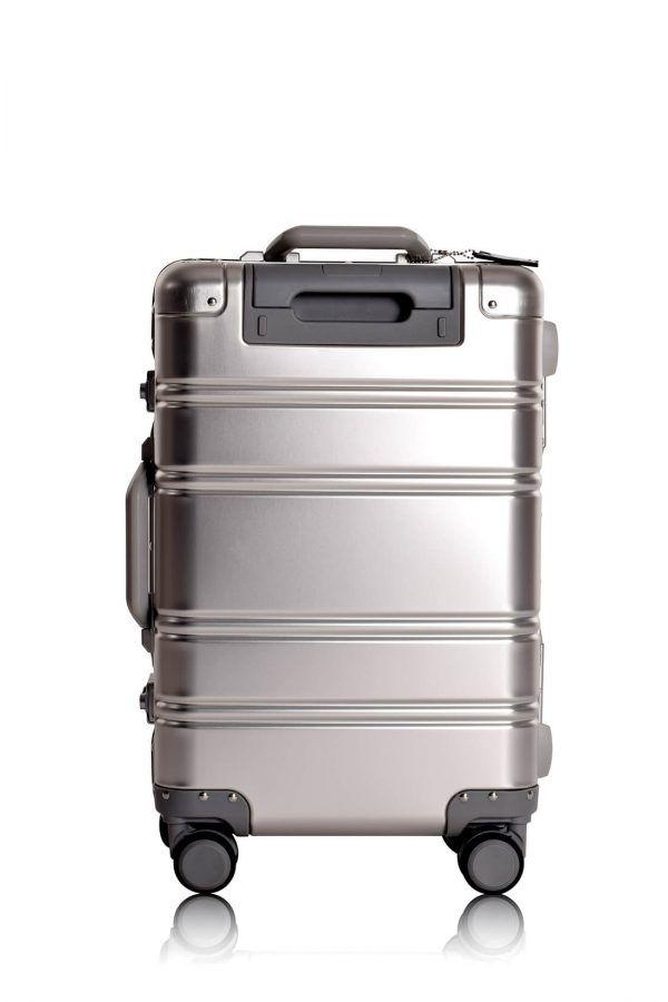 Aluminium Hand Cabin Luggage Premium Suitcase Trolley TOKYOTO LUGGAGE Model SILVER SKULL 2