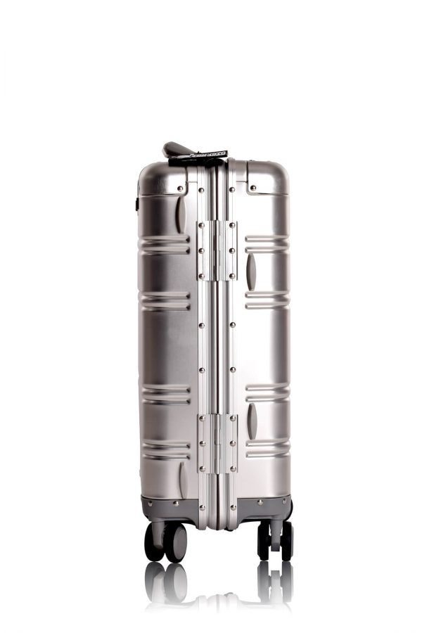 Aluminium Hand Cabin Luggage Premium Suitcase Trolley TOKYOTO LUGGAGE Model SILVER SKULL 3