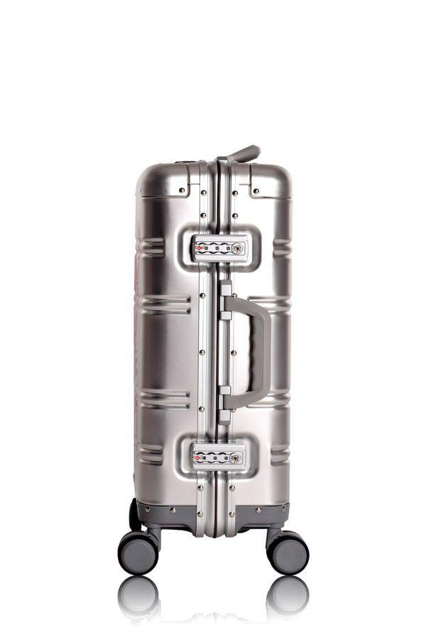 Aluminium Hand Cabin Luggage Premium Suitcase Trolley TOKYOTO LUGGAGE Model SILVER SKULL 4
