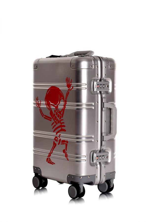 Aluminium Hand Cabin Luggage Premium Suitcase Trolley TOKYOTO LUGGAGE Model SILVER SKULL 5