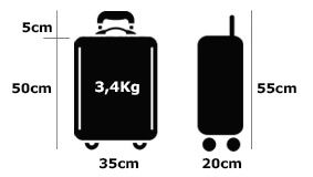 Luggage Made of Recycled Materials 38cm