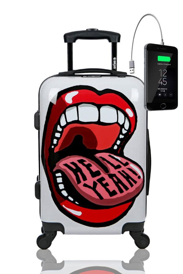 Kids Hand Trolley Cabin Luggage Suitcase Online Powerbank USB TOKYOTO BIG MOUTH
