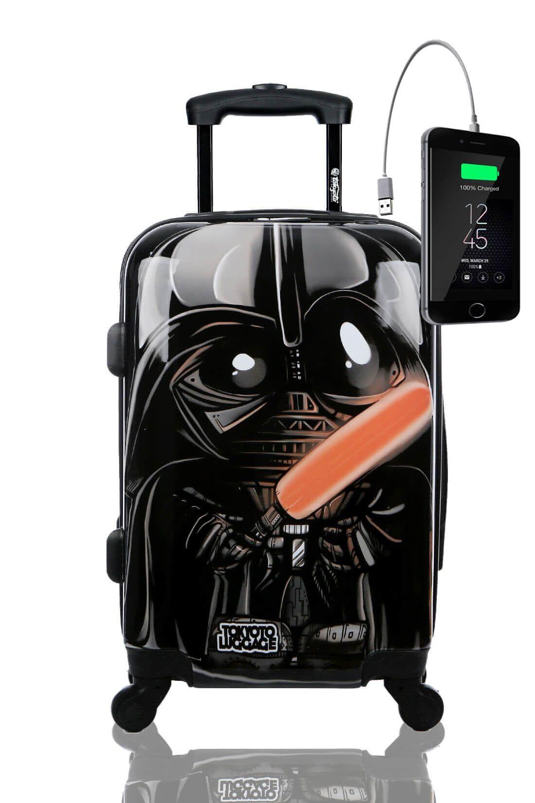 Kids Hand Trolley Cabin Luggage Suitcase Online Powerbank USB TOKYOTO BLACK EMPIRE