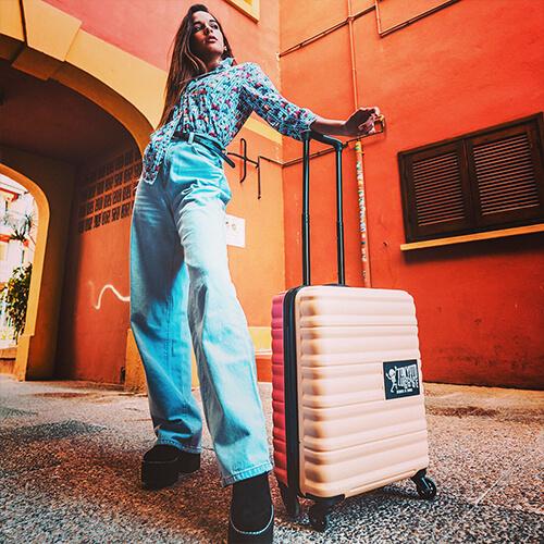 Kids Urban Fun Cabin Luggage Beige Tokyoto Luggage