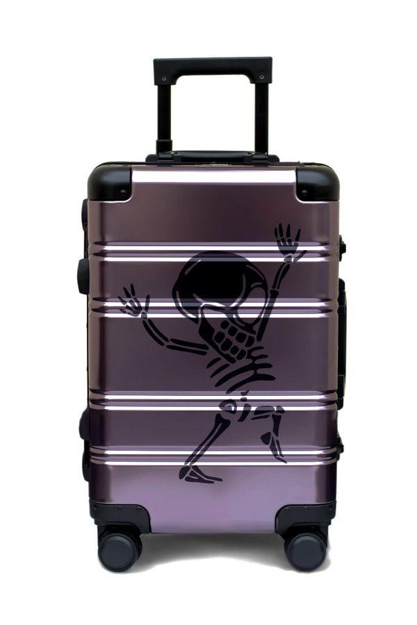 Aluminum Suitcase Trolley Cabin Luggage Money HeistTokyoto 5